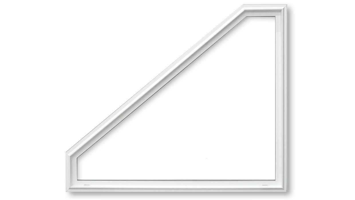 White architectural fixed window