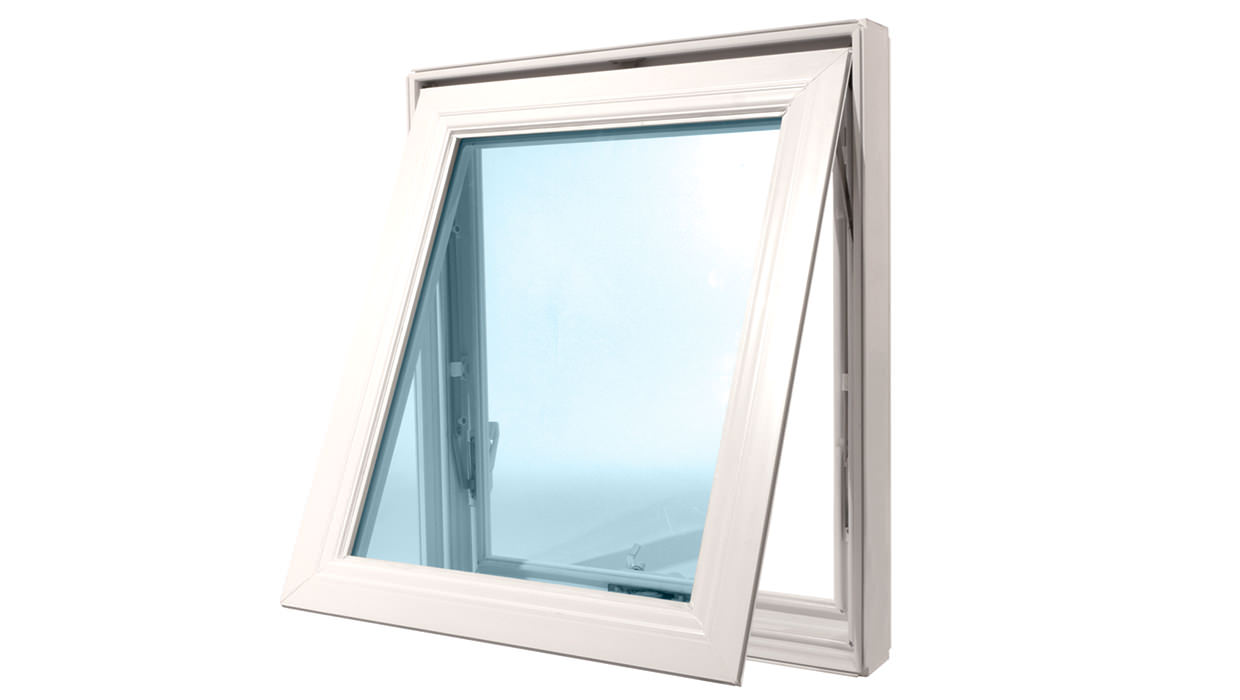White awning window - side view