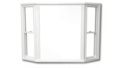 White bay/bow window