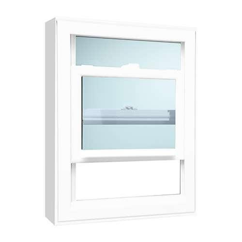 white hung window