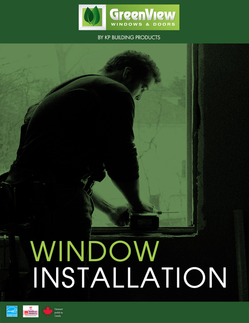 Green install guide with an image of a man next to a window