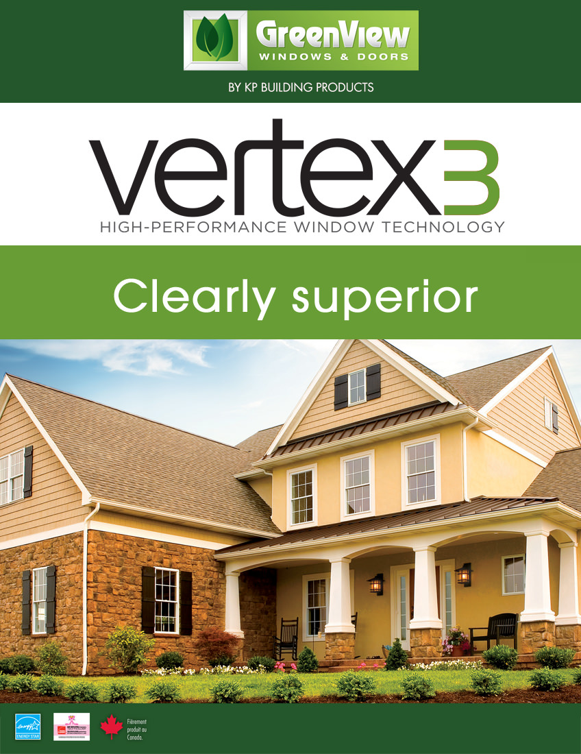 Vertex 3 guide cover with a beige house and greenery