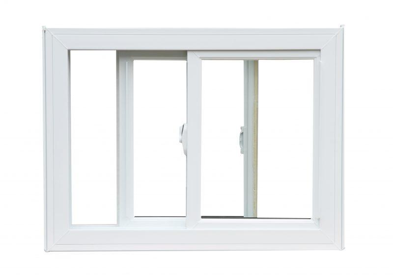A white sliding window